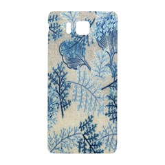 Flowers Blue Patterns Fabric Samsung Galaxy Alpha Hardshell Back Case