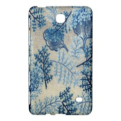 Flowers Blue Patterns Fabric Samsung Galaxy Tab 4 (8 ) Hardshell Case