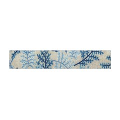 Flowers Blue Patterns Fabric Flano Scarf (mini)