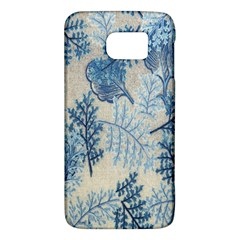 Flowers Blue Patterns Fabric Galaxy S6