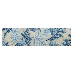 Flowers Blue Patterns Fabric Satin Scarf (Oblong)