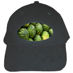 Food Summer Pattern Green Watermelon Black Cap
