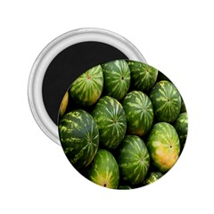 Food Summer Pattern Green Watermelon 2.25  Magnets
