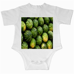 Food Summer Pattern Green Watermelon Infant Creepers