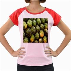 Food Summer Pattern Green Watermelon Women s Cap Sleeve T-Shirt