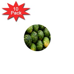 Food Summer Pattern Green Watermelon 1  Mini Buttons (10 pack)