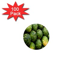 Food Summer Pattern Green Watermelon 1  Mini Magnets (100 pack)