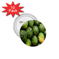 Food Summer Pattern Green Watermelon 1 75  Buttons (10 Pack)