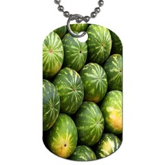 Food Summer Pattern Green Watermelon Dog Tag (two Sides)