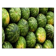 Food Summer Pattern Green Watermelon Rectangular Jigsaw Puzzl