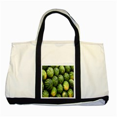 Food Summer Pattern Green Watermelon Two Tone Tote Bag