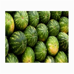 Food Summer Pattern Green Watermelon Small Glasses Cloth (2-Side)