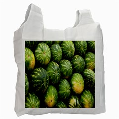 Food Summer Pattern Green Watermelon Recycle Bag (Two Side)