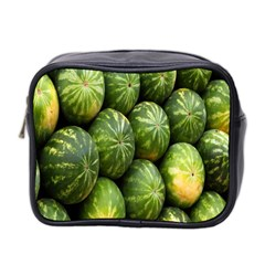 Food Summer Pattern Green Watermelon Mini Toiletries Bag 2-Side