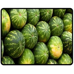 Food Summer Pattern Green Watermelon Fleece Blanket (Medium)