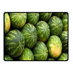 Food Summer Pattern Green Watermelon Fleece Blanket (Small)
