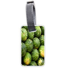 Food Summer Pattern Green Watermelon Luggage Tags (Two Sides)