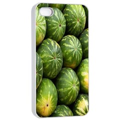 Food Summer Pattern Green Watermelon Apple iPhone 4/4s Seamless Case (White)