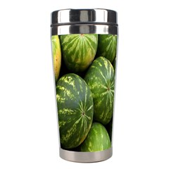 Food Summer Pattern Green Watermelon Stainless Steel Travel Tumblers
