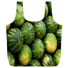 Food Summer Pattern Green Watermelon Full Print Recycle Bags (L)