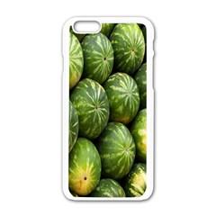 Food Summer Pattern Green Watermelon Apple Iphone 6/6s White Enamel Case