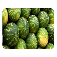 Food Summer Pattern Green Watermelon Double Sided Flano Blanket (Large)