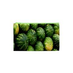 Food Summer Pattern Green Watermelon Cosmetic Bag (XS)