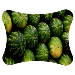 Food Summer Pattern Green Watermelon Jigsaw Puzzle Photo Stand (Bow)