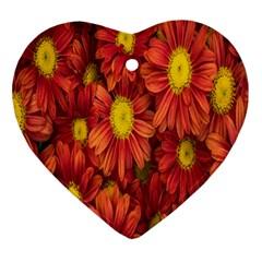 Flowers Nature Plants Autumn Affix Ornament (Heart)