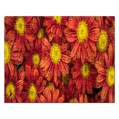Flowers Nature Plants Autumn Affix Rectangular Jigsaw Puzzl