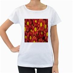 Flowers Nature Plants Autumn Affix Women s Loose-Fit T-Shirt (White)