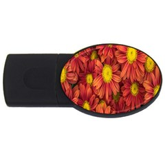 Flowers Nature Plants Autumn Affix USB Flash Drive Oval (4 GB)