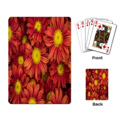 Flowers Nature Plants Autumn Affix Playing Card