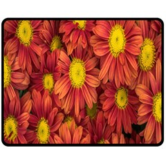 Flowers Nature Plants Autumn Affix Double Sided Fleece Blanket (medium)