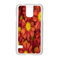 Flowers Nature Plants Autumn Affix Samsung Galaxy S5 Case (White)