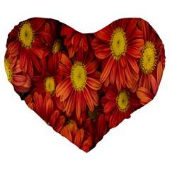 Flowers Nature Plants Autumn Affix Large 19  Premium Flano Heart Shape Cushions