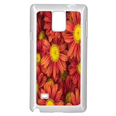 Flowers Nature Plants Autumn Affix Samsung Galaxy Note 4 Case (White)