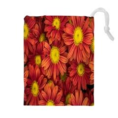 Flowers Nature Plants Autumn Affix Drawstring Pouches (Extra Large)