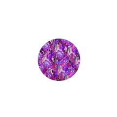 Flowers Abstract Digital Art 1  Mini Magnets
