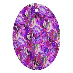 Flowers Abstract Digital Art Ornament (oval)