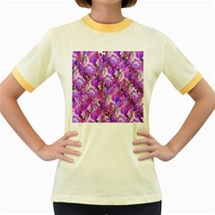 Flowers Abstract Digital Art Women s Fitted Ringer T-Shirts