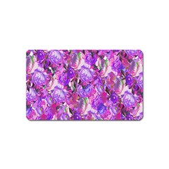 Flowers Abstract Digital Art Magnet (name Card)