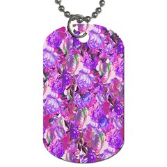 Flowers Abstract Digital Art Dog Tag (One Side)