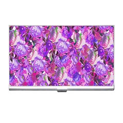 Flowers Abstract Digital Art Business Card Holders