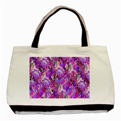 Flowers Abstract Digital Art Basic Tote Bag (Two Sides)