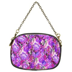 Flowers Abstract Digital Art Chain Purses (Two Sides)
