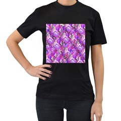 Flowers Abstract Digital Art Women s T-Shirt (Black)