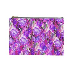 Flowers Abstract Digital Art Cosmetic Bag (Large)