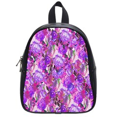 Flowers Abstract Digital Art School Bags (Small)