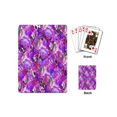 Flowers Abstract Digital Art Playing Cards (Mini)
